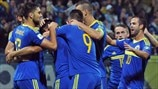 Bosnia and Herzegovina players celebrate
