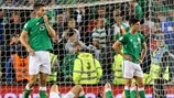 Republic of Ireland players react