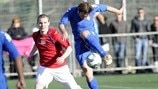 Action from Latvian Virsliga game JFK Olimps vs Skonto FC